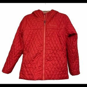 🌺 Columbia Quilted Faux Fur Lined Sz LG EUC